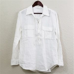 Equipment Knox Linen Shirt size large